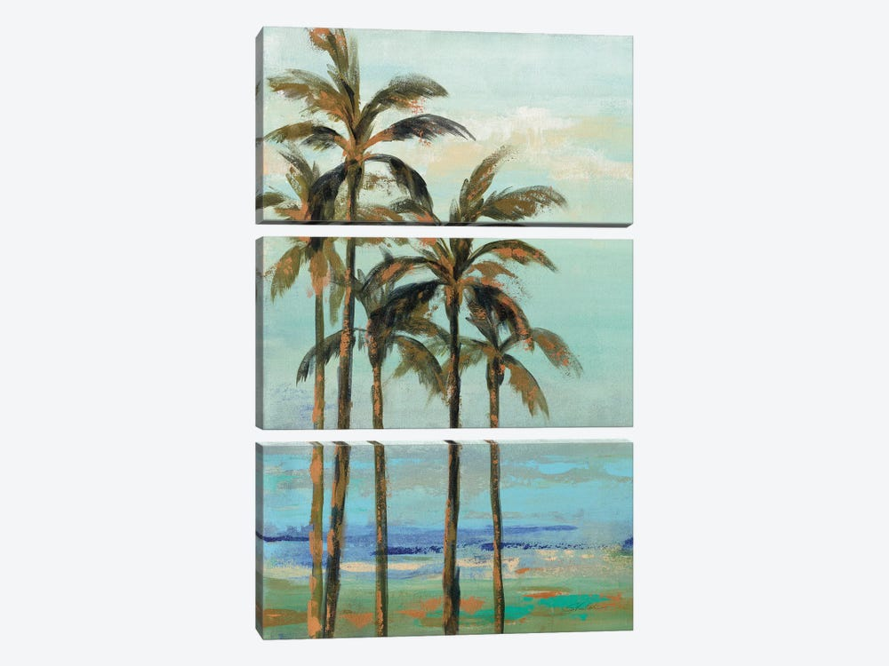 Copper Palms II by Silvia Vassileva 3-piece Canvas Art Print