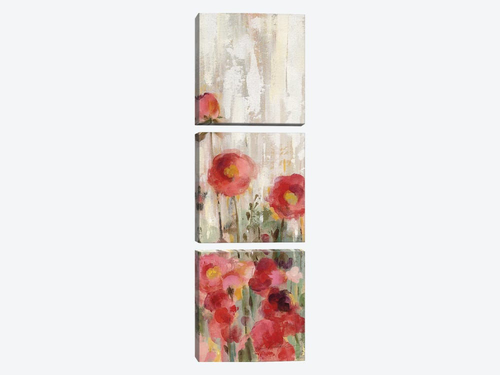 Sprinkled Flowers Panel I by Silvia Vassileva 3-piece Art Print