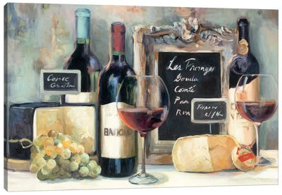 Les Fromages  Canvas Art Print