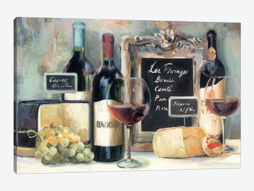 Les Fromages  by Marilyn Hageman 1-piece Canvas Print