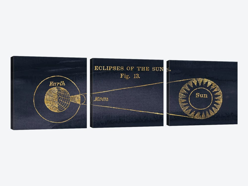 Geography Of The Heavens III Blue Gold by Wild Apple Portfolio 3-piece Canvas Artwork