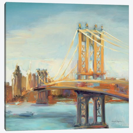 Sunny Manhattan Bridge Canvas Print #WAC904} by Marilyn Hageman Canvas Wall Art