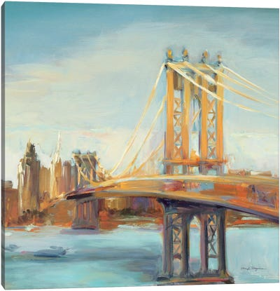 Sunny Manhattan Bridge Canvas Art Print
