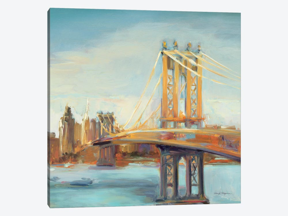 Sunny Manhattan Bridge by Marilyn Hageman 1-piece Canvas Wall Art