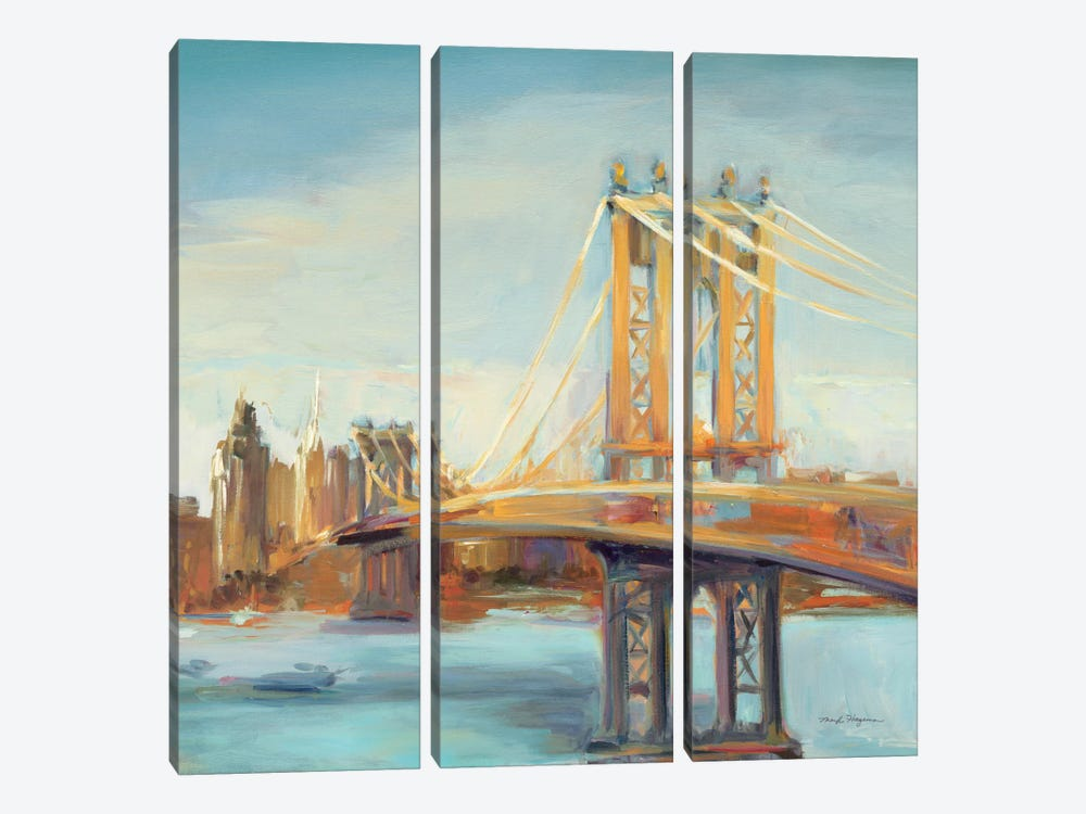 Sunny Manhattan Bridge by Marilyn Hageman 3-piece Canvas Art