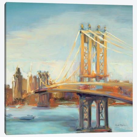 Sunny Manhattan Bridge Canvas Print #WAC904} by Marilyn Hageman Canvas Wall Art