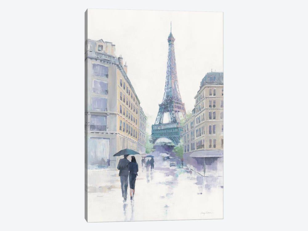 Walking In The Rain 1-piece Canvas Print