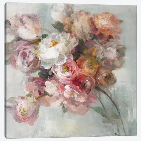 Blush Bouquet Canvas Print #WAC9066} by Danhui Nai Art Print