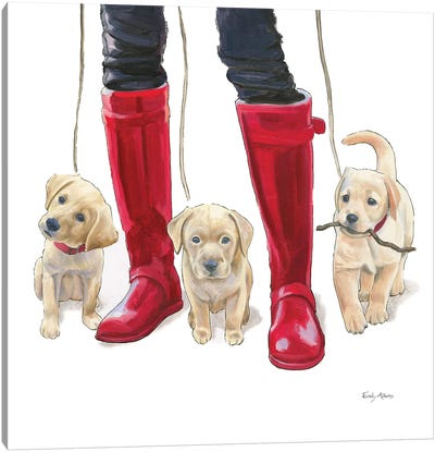 Furry Fashion Friends I Canvas Art Print