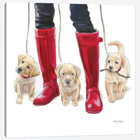 Furry Fashion Friends I Canvas Print #WAC9087} by Emily Adams Canvas Art Print