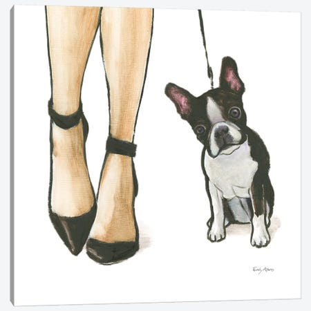Furry Fashion Friends II Canvas Print #WAC9088} by Emily Adams Canvas Wall Art