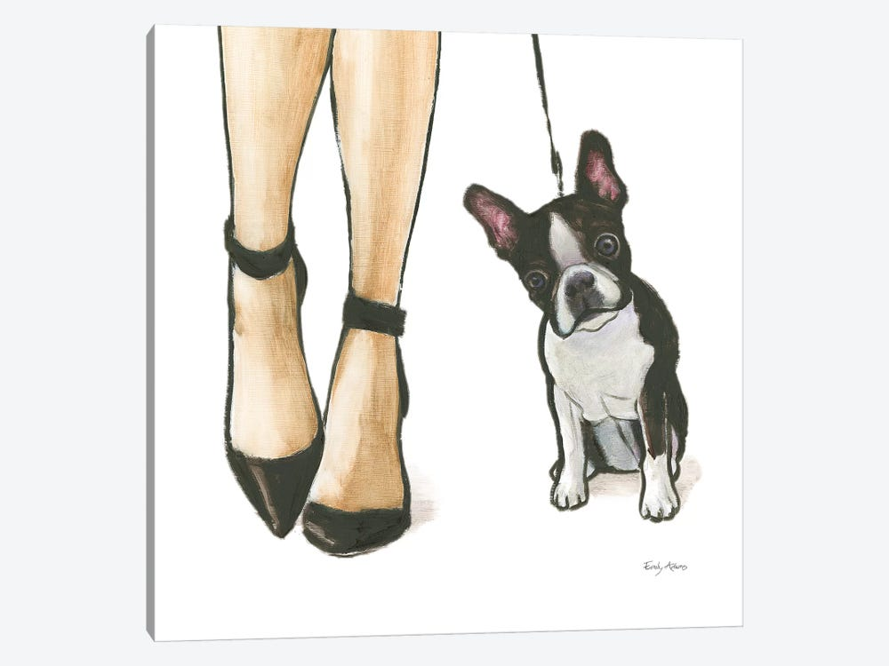 Furry Fashion Friends II by Emily Adams 1-piece Canvas Art Print
