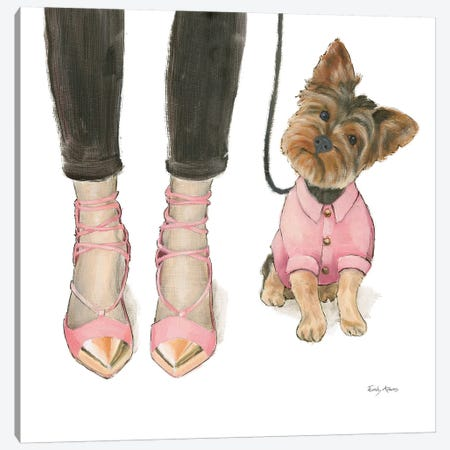 Furry Fashion Friends III Canvas Print #WAC9089} by Emily Adams Canvas Art