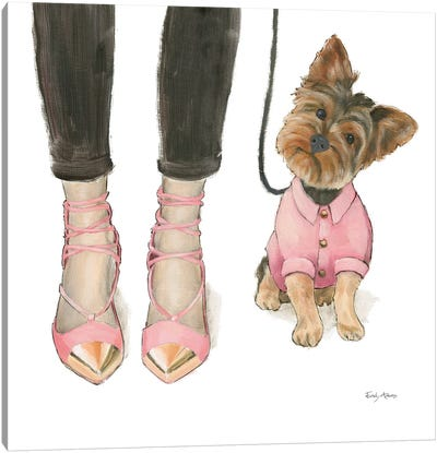 Furry Fashion Friends III Canvas Art Print