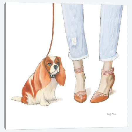 Furry Fashion Friends IV Canvas Print #WAC9090} by Emily Adams Canvas Print