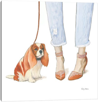 Furry Fashion Friends IV Canvas Art Print