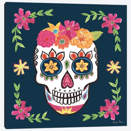 Day Of The Dead II Canvas Print #WAC9095} by Farida Zaman Canvas Wall Art