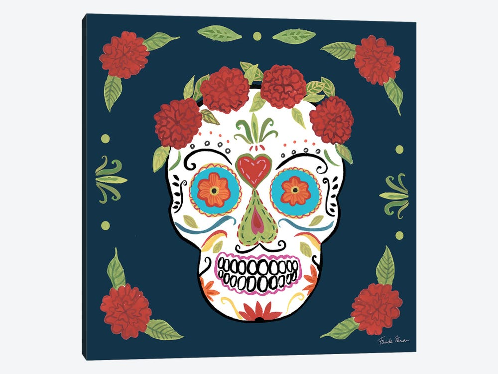 Day Of The Dead III by Farida Zaman 1-piece Canvas Art