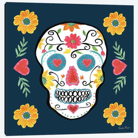 Day Of The Dead IV Canvas Print #WAC9097} by Farida Zaman Canvas Artwork