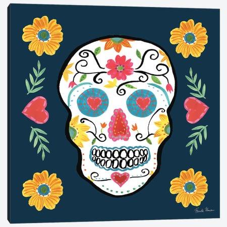 Day Of The Dead IV Canvas Print #WAC9097} by Farida Zaman Canvas Artwork