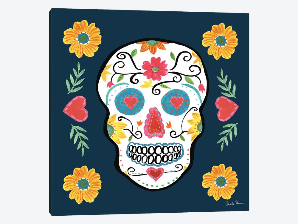 Day Of The Dead IV by Farida Zaman 1-piece Canvas Art Print