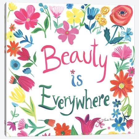 Floral Quote III 3-Piece Canvas #WAC9101} by Farida Zaman Canvas Art Print