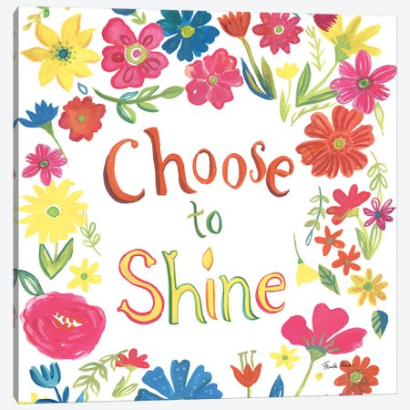 Floral Quote IV Canvas Print #WAC9102} by Farida Zaman Art Print