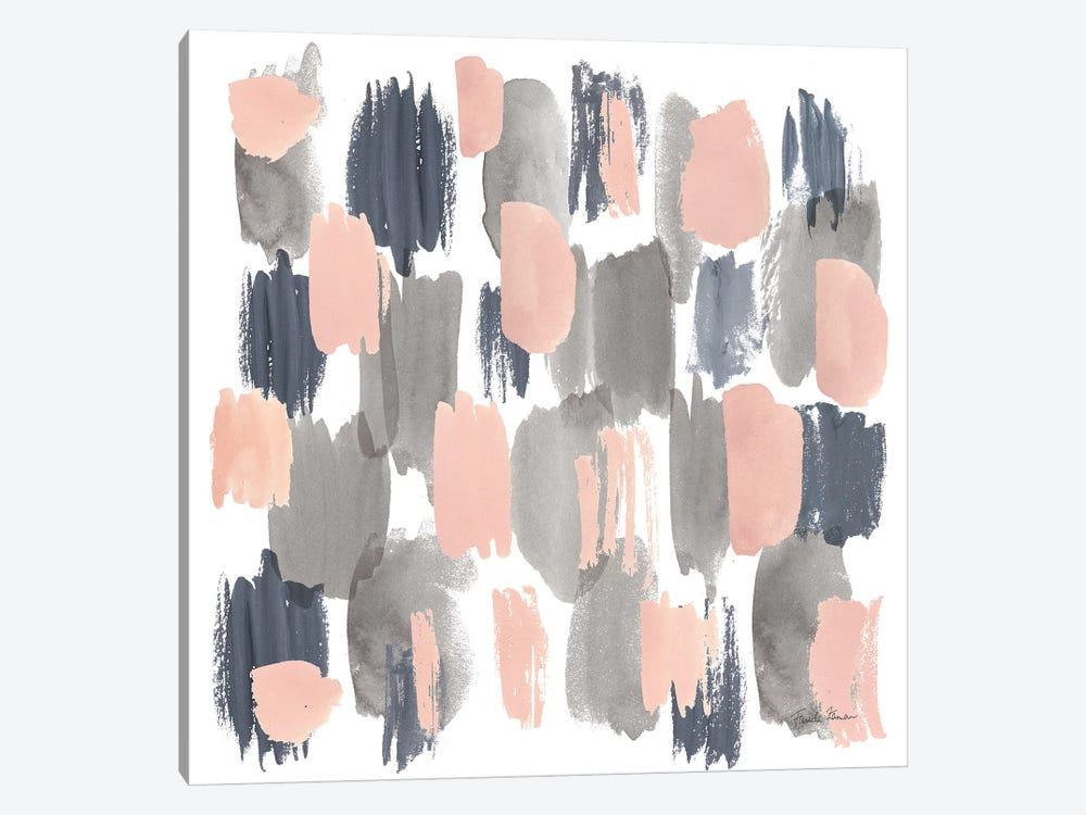 Grey Pink Mist I by Farida Zaman 1-piece Art Print