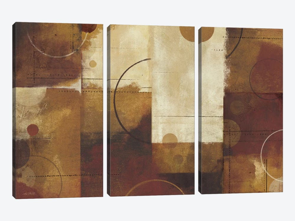 Geometric Spice I by Michael Mullan 3-piece Canvas Artwork