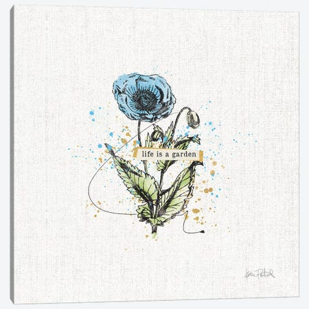Thoughtful Blooms I Canvas Print #WAC9138} by Katie Pertiet Canvas Artwork
