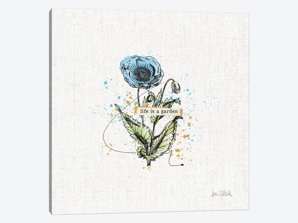 Thoughtful Blooms I by Katie Pertiet 1-piece Canvas Art Print