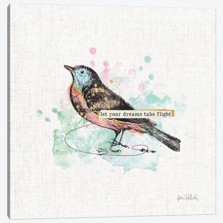 Thoughtful Wings II Canvas Print #WAC9143} by Katie Pertiet Art Print