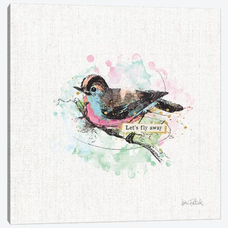 Thoughtful Wings IV Canvas Print #WAC9145} by Katie Pertiet Canvas Art