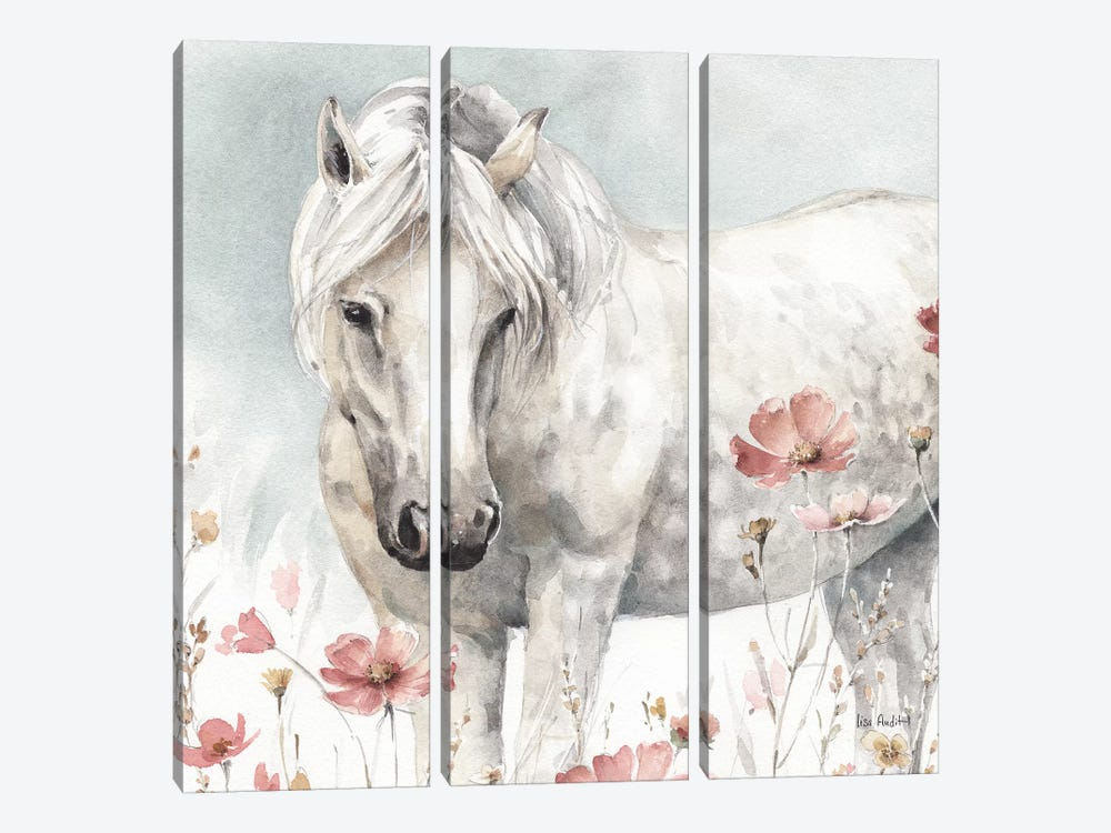 Wild Horses V by Lisa Audit 3-piece Canvas Wall Art
