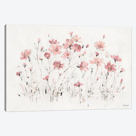 Wildflowers Pink I Canvas Print #WAC9160} by Lisa Audit Canvas Print