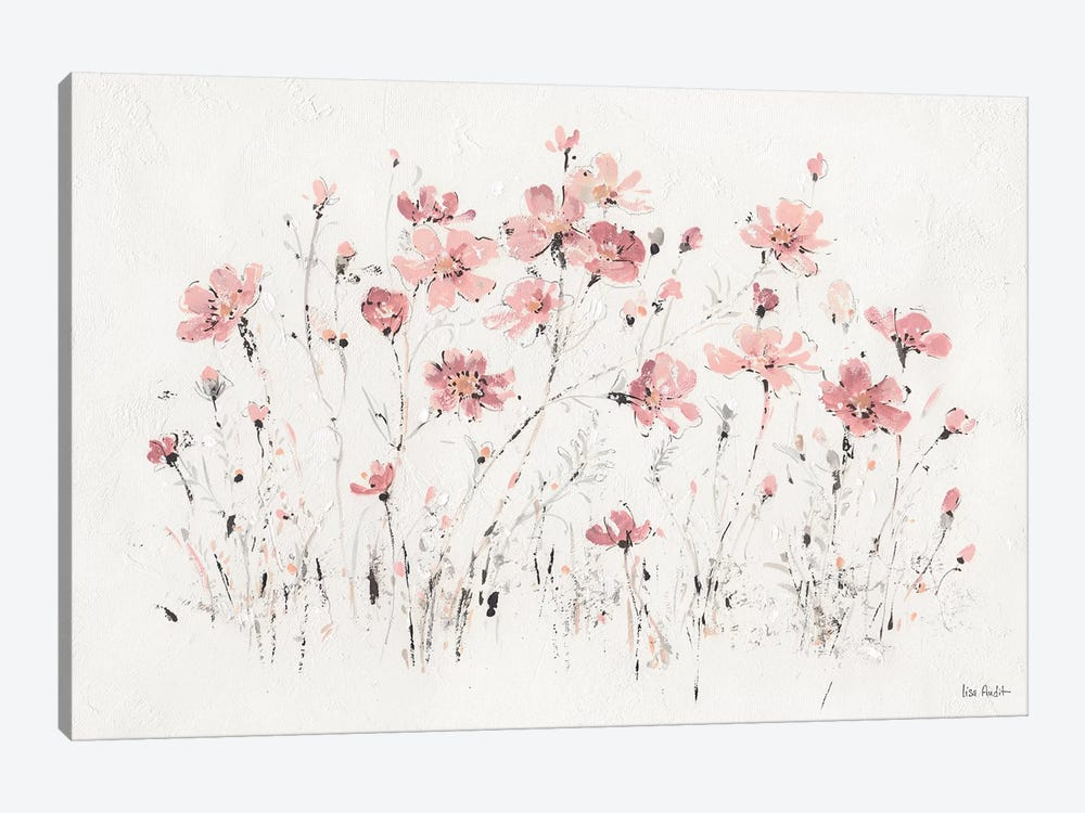 Wildflowers Pink I by Lisa Audit 1-piece Canvas Art