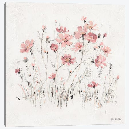 Wildflowers Pink II Canvas Print #WAC9161} by Lisa Audit Art Print