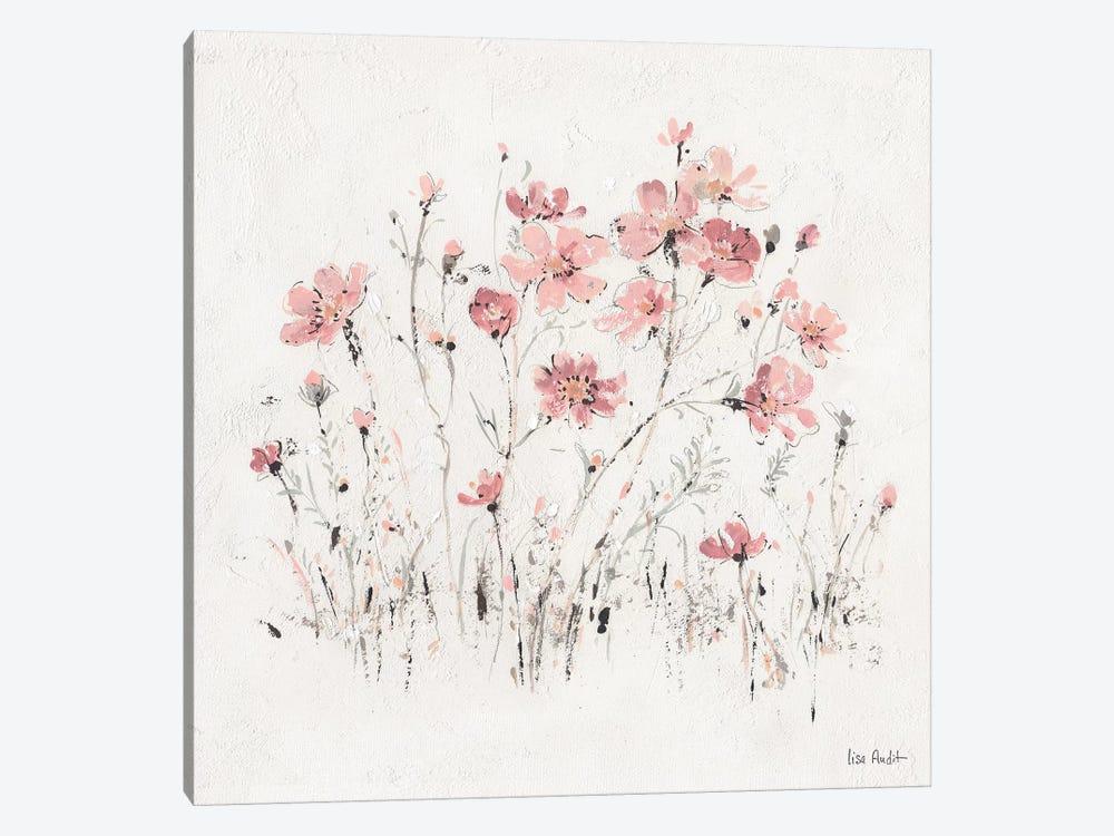 Wildflowers Pink II by Lisa Audit 1-piece Art Print