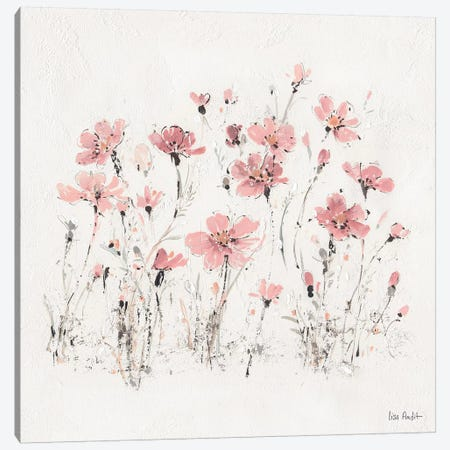 Wildflowers Pink III Canvas Print #WAC9162} by Lisa Audit Art Print
