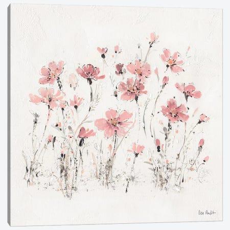 Wildflowers Pink III Canvas Print #WAC9162} by Lisa Audit Art Print