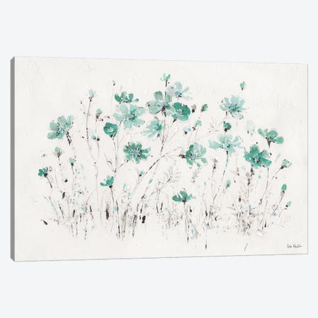 Wildflowers Turquoise I Canvas Print #WAC9163} by Lisa Audit Canvas Print