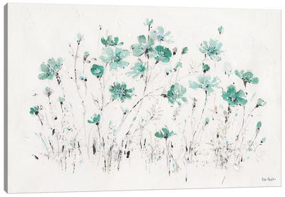 Wildflowers Turquoise I Canvas Art Print