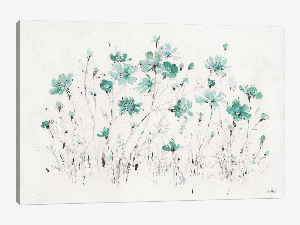 Wildflowers Turquoise I by Lisa Audit 1-piece Art Print