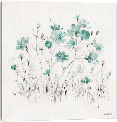Wildflowers Turquoise II Canvas Art Print