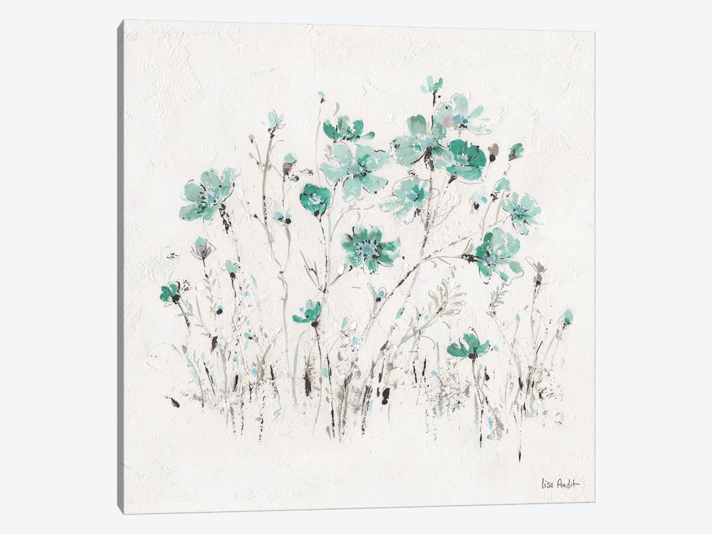 Wildflowers Turquoise II by Lisa Audit 1-piece Canvas Art