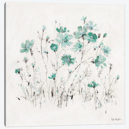 Wildflowers Turquoise II Canvas Print #WAC9164} by Lisa Audit Canvas Artwork