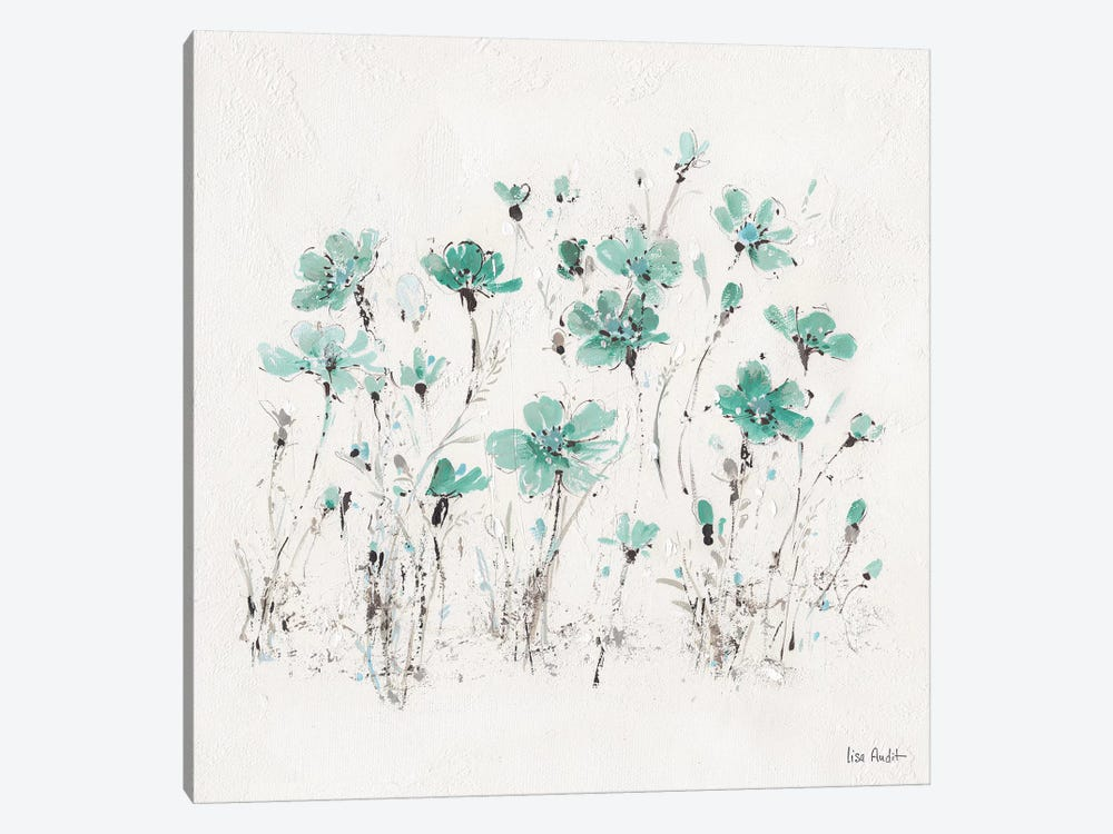 Wildflowers Turquoise III by Lisa Audit 1-piece Art Print