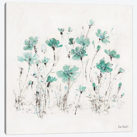 Wildflowers Turquoise III Canvas Print #WAC9165} by Lisa Audit Canvas Art