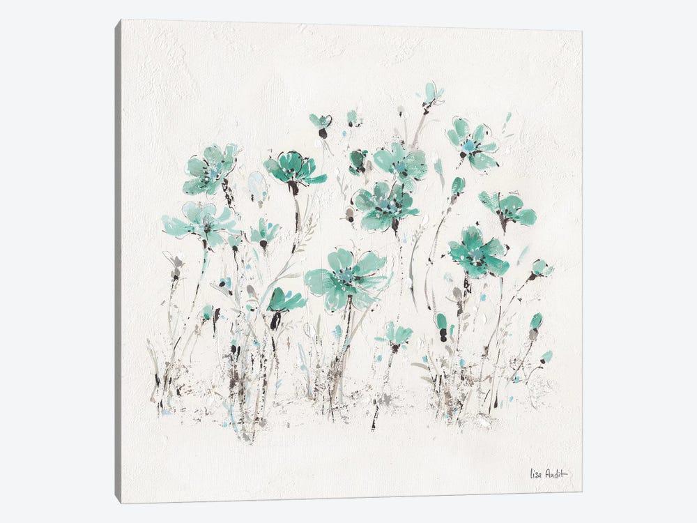 Wildflowers Turquoise III by Lisa Audit 1-piece Art Print