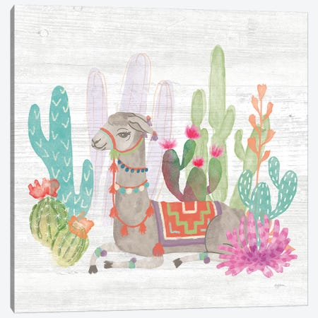 Lovely Llamas I Canvas Print #WAC9167} by Mary Urban Canvas Art